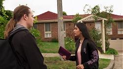 Alfie Sutton, Yashvi Rebecchi in Neighbours Episode 8149