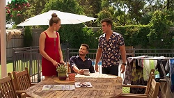 Chloe Brennan, David Tanaka, Aaron Brennan in Neighbours Episode 8151