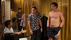 Pierce Greyson, Aaron Brennan, Kyle Canning in Neighbours Episode 8151