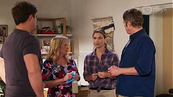 Kyle Canning, Sheila Canning, Amy Williams, Gary Canning in Neighbours Episode 8152