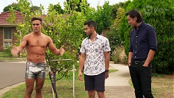 Aaron Brennan, David Tanaka, Leo Tanaka in Neighbours Episode 8153