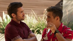 Ned Willis, Aaron Brennan in Neighbours Episode 8153