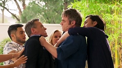 David Tanaka, Paul Robinson, Sheila Canning, Gary Canning, Leo Tanaka in Neighbours Episode 8154