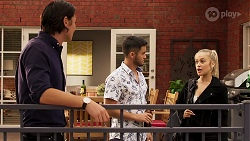 Leo Tanaka, David Tanaka, Roxy Willis in Neighbours Episode 8154