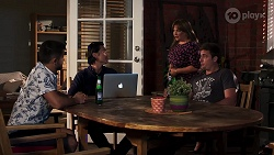 David Tanaka, Leo Tanaka, Terese Willis, Kyle Canning in Neighbours Episode 8154