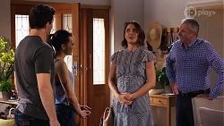 Finn Kelly, Bea Nilsson, Elly Conway, Karl Kennedy in Neighbours Episode 8156