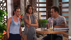 Bea Nilsson, Elly Conway, Aaron Brennan in Neighbours Episode 8156