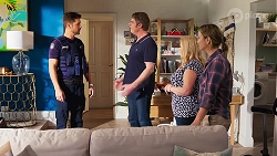 Mark Brennan, Gary Canning, Sheila Canning, Amy Williams in Neighbours Episode 8156