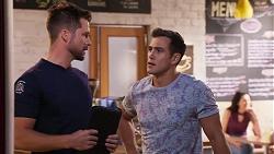 Mark Brennan, Aaron Brennan in Neighbours Episode 8156