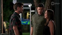 Ned Willis, Finn Kelly, Bea Nilsson in Neighbours Episode 8158