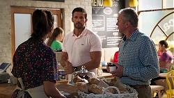 Dipi Rebecchi, Pierce Greyson, Karl Kennedy in Neighbours Episode 8158