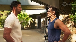 Pierce Greyson, Aaron Brennan in Neighbours Episode 8158