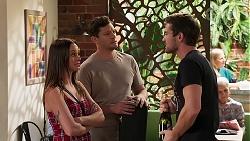 Bea Nilsson, Finn Kelly, Ned Willis in Neighbours Episode 8158
