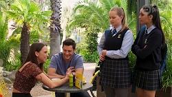 Bea Nilsson, Finn Kelly, Harlow Robinson, Yashvi Rebecchi in Neighbours Episode 8159