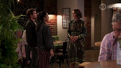 Ned Willis, Yashvi Rebecchi, Elly Conway in Neighbours Episode 8161