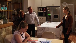 Harlow Robinson, Terese Willis, Paul Robinson, Amy Williams in Neighbours Episode 8162