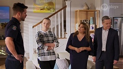 Mark Brennan, Harlow Robinson, Terese Willis, Paul Robinson in Neighbours Episode 8162