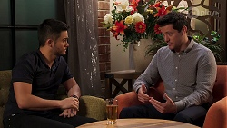 David Tanaka, Finn Kelly in Neighbours Episode 8164