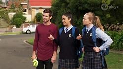 Ned Willis, Yashvi Rebecchi, Harlow Robinson in Neighbours Episode 8165