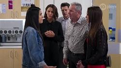 Yashvi Rebecchi, Elly Conway, Finn Kelly, Karl Kennedy, Bea Nilsson in Neighbours Episode 8167
