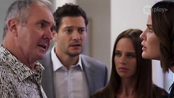 Karl Kennedy, Finn Kelly, Bea Nilsson, Elly Conway in Neighbours Episode 8167