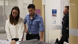 Bea Nilsson, David Tanaka, Mark Brennan in Neighbours Episode 8168