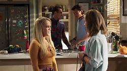 Roxy Willis, Gemma Willis, Aaron Brennan, Leo Tanaka in Neighbours Episode 8169
