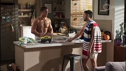 Aaron Brennan, David Tanaka in Neighbours Episode 8170
