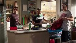 Aaron Brennan, David Tanaka, Kyle Canning in Neighbours Episode 8172