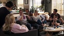 Carmen Del Clos, Leo Tanaka, Kyle Canning, Chloe Brennan, Aaron Brennan, David Tanaka in Neighbours Episode 8172