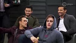 Aaron Brennan, David Tanaka, Kyle Canning, Pierce Greyson in Neighbours Episode 8172