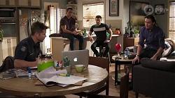 Mark Brennan, Aaron Brennan, David Tanaka, Leo Tanaka in Neighbours Episode 8173