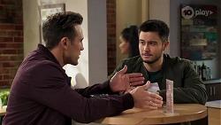 Aaron Brennan, David Tanaka in Neighbours Episode 8173