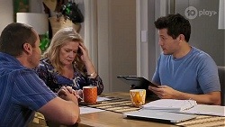 Toadie Rebecchi, Sheila Canning, Finn Kelly in Neighbours Episode 8174