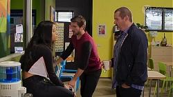 Yashvi Rebecchi, Ned Willis, Toadie Rebecchi in Neighbours Episode 8174