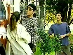 Libby Kennedy, Darren Stark, Malcolm Kennedy in Neighbours Episode 2793