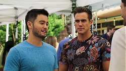 David Tanaka, Aaron Brennan in Neighbours Episode 8161