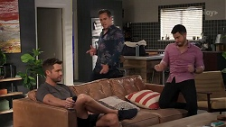 Mark Brennan, Aaron Brennan, David Tanaka in Neighbours Episode 8177