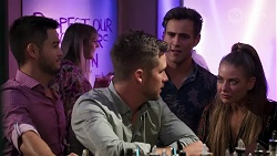 David Tanaka, Mark Brennan, Aaron Brennan, Chloe Brennan in Neighbours Episode 8177