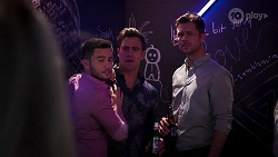 David Tanaka, Aaron Brennan, Mark Brennan in Neighbours Episode 8177