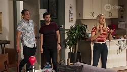 Aaron Brennan, David Tanaka, Roxy Willis in Neighbours Episode 8179
