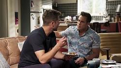 Mark Brennan, Aaron Brennan in Neighbours Episode 8179