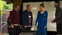 Toadie Rebecchi, Karl Kennedy, Chloe Brennan, Pierce Greyson in Neighbours Episode 8180