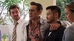 Ned Willis, Aaron Brennan, David Tanaka, Amy Williams in Neighbours Episode 8182