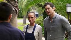 David Tanaka, Bea Nilsson, Finn Kelly in Neighbours Episode 8183