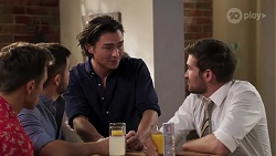Aaron Brennan, David Tanaka, Leo Tanaka, Ned Willis in Neighbours Episode 8186