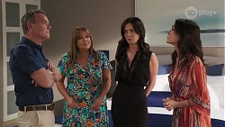 Paul Robinson, Terese Willis, Caroline Alessi, Christina Robinson in Neighbours Episode 8186