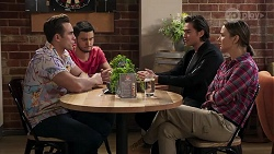 Aaron Brennan, David Tanaka, Leo Tanaka, Amy Williams in Neighbours Episode 8187