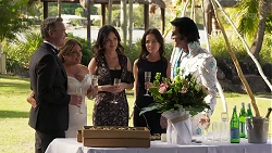 Paul Robinson, Terese Willis, Caroline Alessi, Christina Robinson, Celebrant in Neighbours Episode 8187