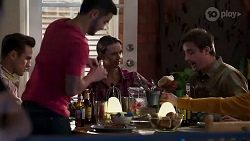 David Tanaka, Aaron Brennan, Amy Williams, Kyle Canning in Neighbours Episode 8187